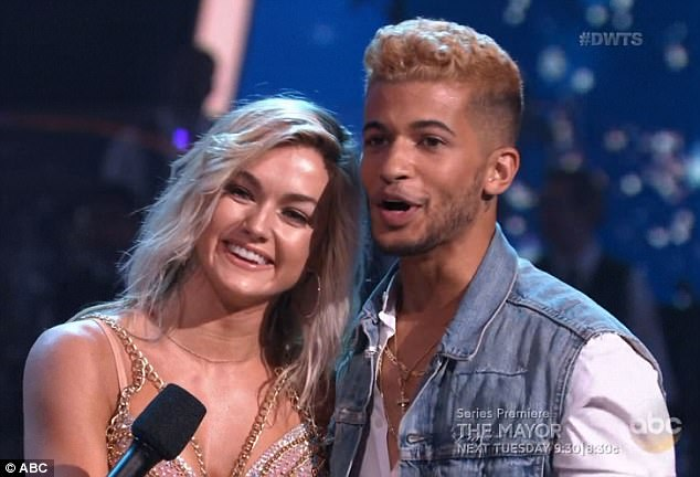 High marks: Lindsay and Jordan received 24 points for their dance