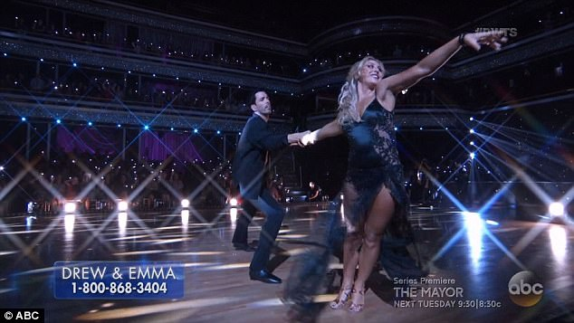 Rumba routine: Drew and Emma Slater performed a rumba routine