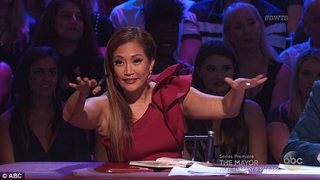 High praise: Carrie Ann Inaba told Sasha that she was on fire
