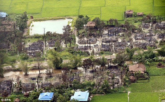 In the space of just a month 480,000 Rohingya have been driven across the border to Bangladesh as whole villages have been burned to the ground