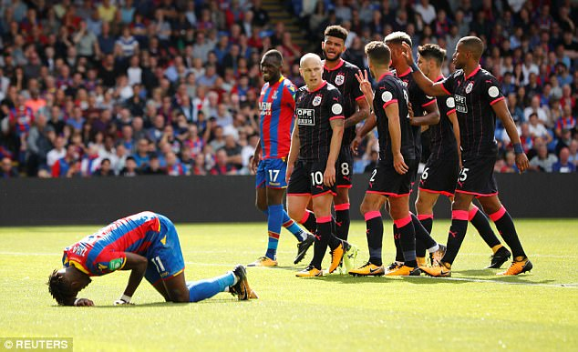 Zaha has not played since injuring his knee in last month's 3-0 home loss to Huddersfield