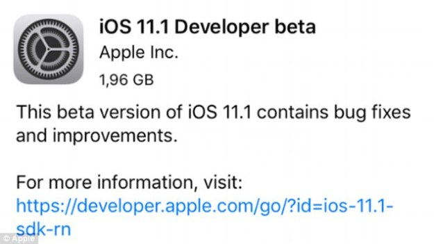 The latest update comes just two weeks after the software was released - and a week after Apple was forced to issue an 'emergency' 11.0.1 update to deal with major issues.