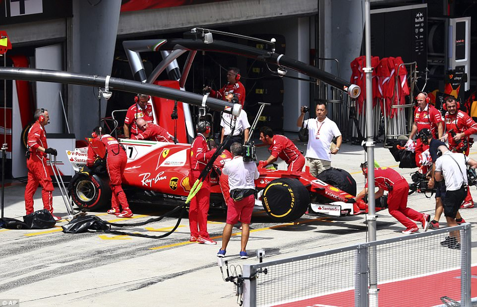 Ferrari were dealt another blow as Kimi Raikkonen had issues with his car and was forced to bow out prematurely
