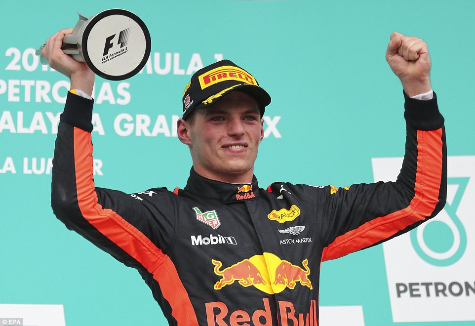 Verstappen has endured a tricky season with Red Bull but thoroughly deserved his win - pictured celebrating with his trophy