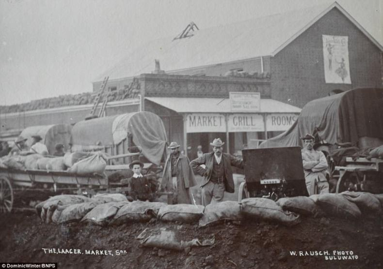 This image shows the Laager market which provided supplies, cooked food and even accommodation for the night