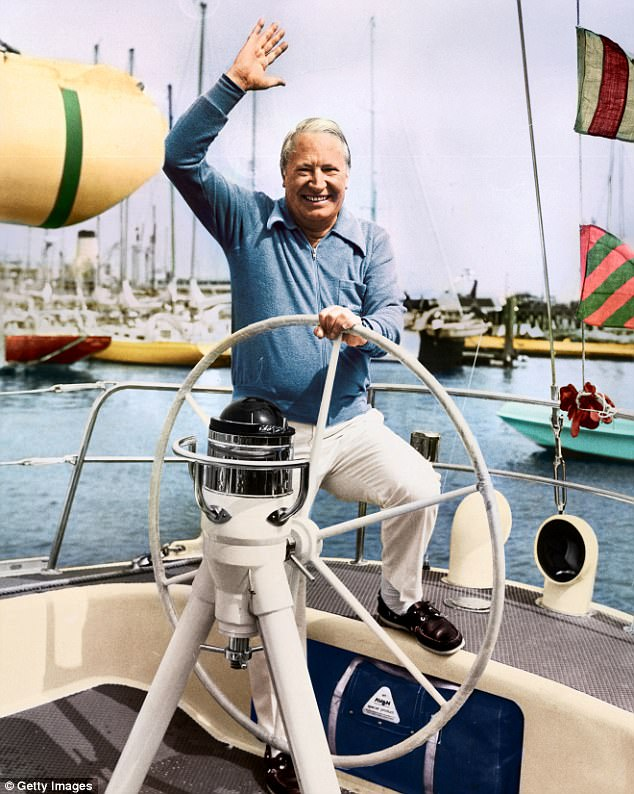 Police have spent £1.5million investigating sexual abuse allegations against Sir Edward Heath, including £14,000 on spin to defend the controversial probe. He is pictured on his racing yacht Morning Cloud in 1975 where six people wrongly claimed he abused and murdered children on board