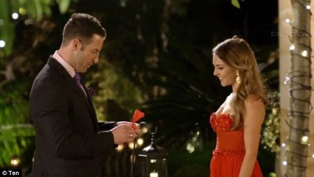 History repeats itself! The immediately recognisable 'winner's theme' was also heard in the first season of The Bachelorette in 2015 when Sasha Mielczarek greeted Sam Frost