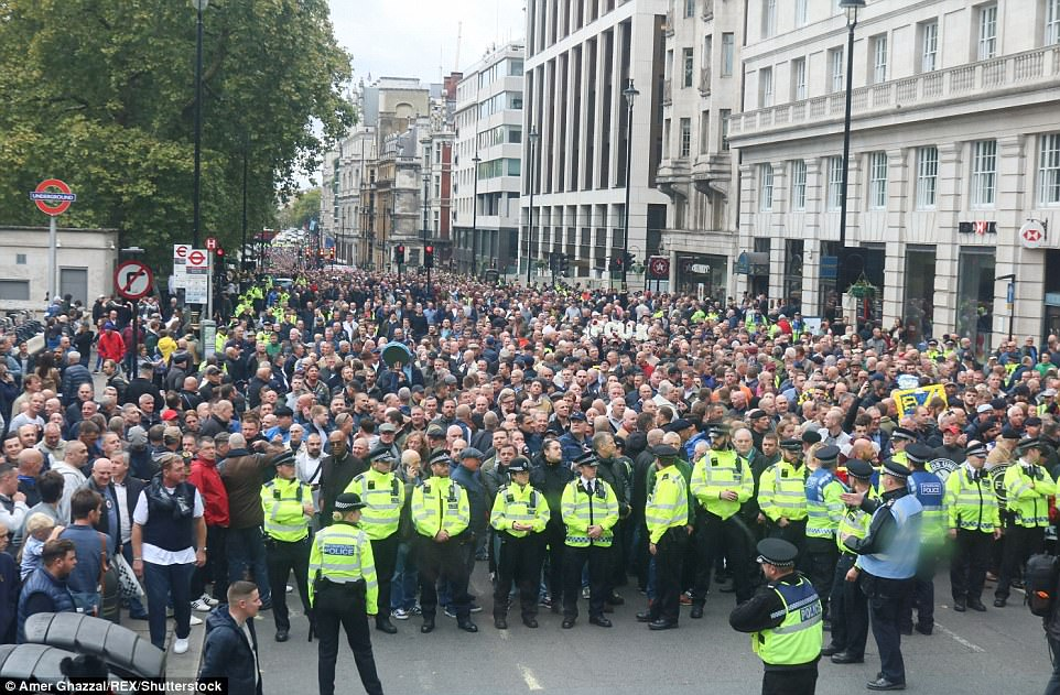The march in London today was attended by thousands, with one Twitter user putting the demonstration's attendance figure at 30,000