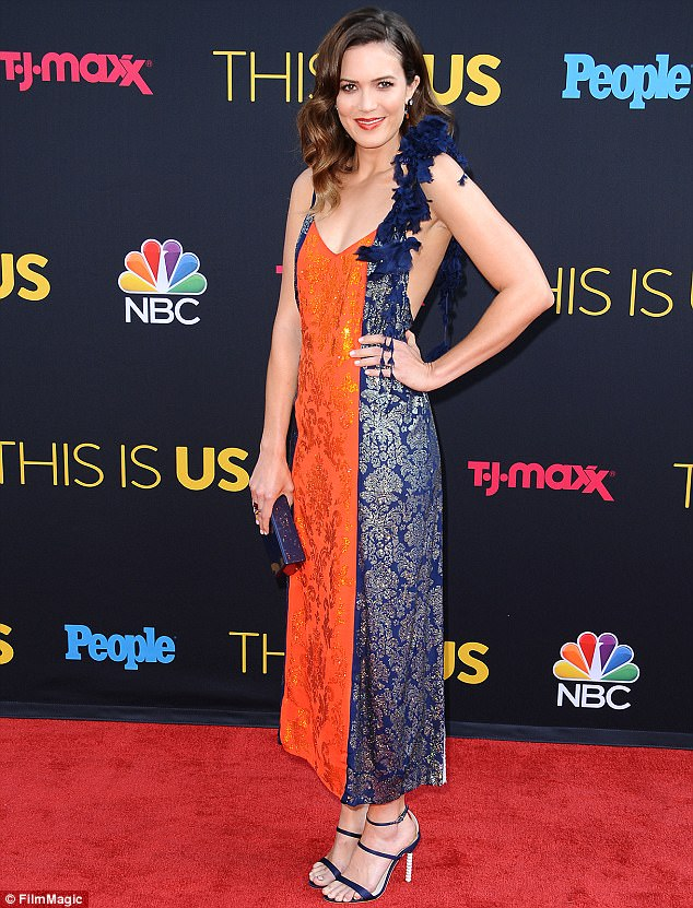 Her big night: Mandy is seen at the This Is Us season two premiere in Los Angeles last month