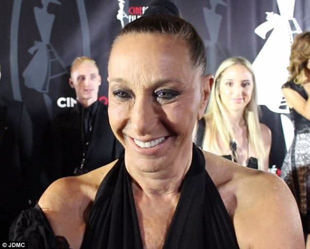 Offending words: Donna Karan, 69, defended Harvey Weinstein in a red carpet interview with DailyMail.com