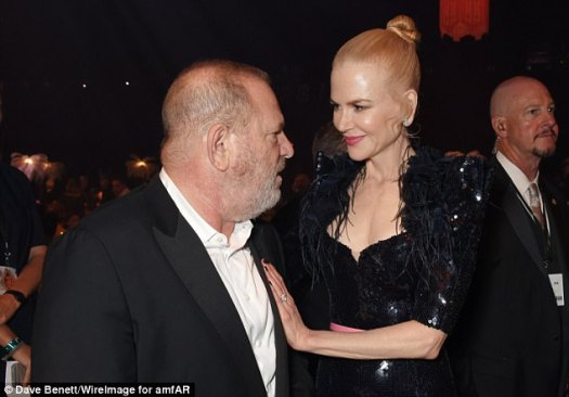 On the red carpet: Harvey and Nicole were photographed together at the amfAR Gala Cannes in May this year