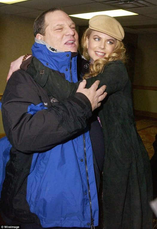 History:Nicole, pictured here with Weinstein in 2002, has worked with Weinstein on several films, including Cold Mountain, The Others, Nine and Lion - for which she received an Oscar nomination