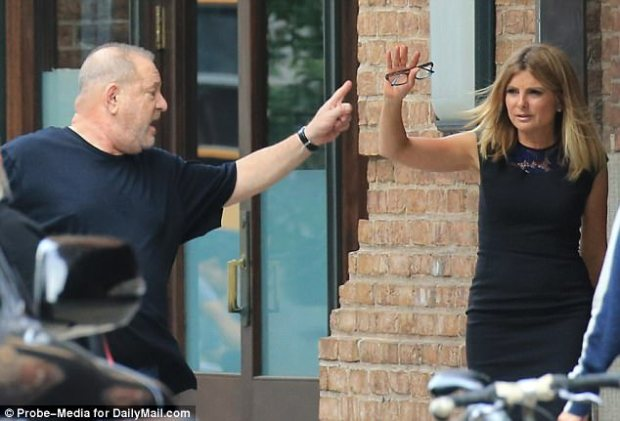 Fooled you both: Linton posed as Harvey Weinstein to snare his ex-attorney Lisa Bloom (right) - then posed as another ex-Weinstein adviser, Anita Dunn, to snare Weinstein himself. He said he was 'sick' in the email