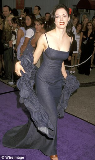 McGowan (pictured at the MTV Awards in 1997, the year she said she was assaulted) has been vociferous in condemning those who have been silent about sexual abuse