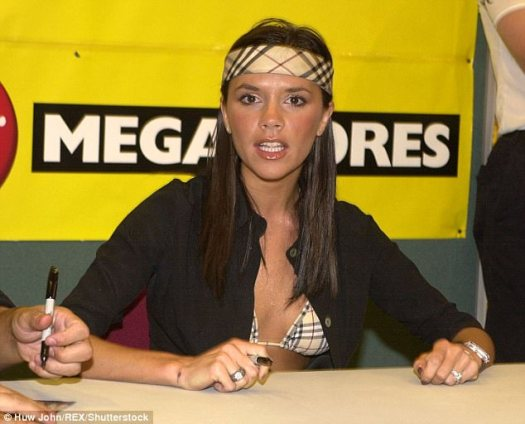 Who's that girl? During her time in the Spice Girls (here in Cardiff, in 2000), Victoria Beckham - who has gone on to become an international fashion designer - was already displaying her flare for fashion in this matching Burberry bikini and Rambo-style headband