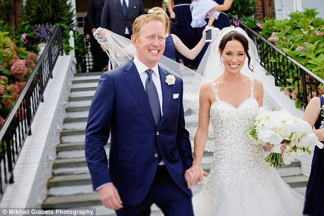This summer, O'Neill (left) married 27-year-old Jessica Halpin in a lavish ceremony on Cape Cod