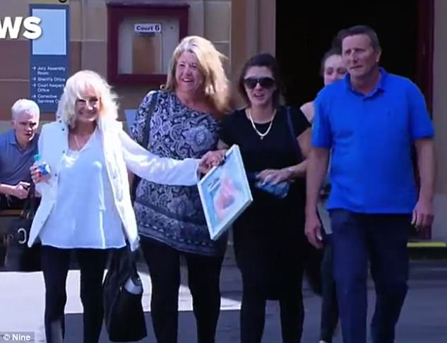 The respective families of a victim and killer have clashed violently outside court after a man was convicted of murder
