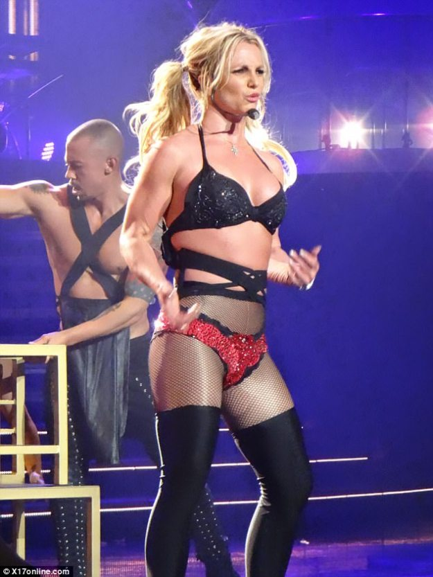 Show must go on: Britney Spears was back at it on Wednesday night, performing for her Piece of Me residency for the first time since the Las Vegas mass shooting on October 1