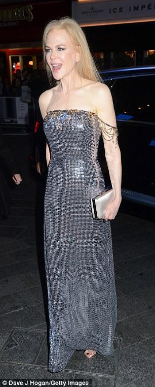 Chic: Nicole looked incredible