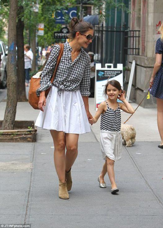 Proud mum: Holmes shares custody of 11-year-old daughter Suri with ex Tom Cruise