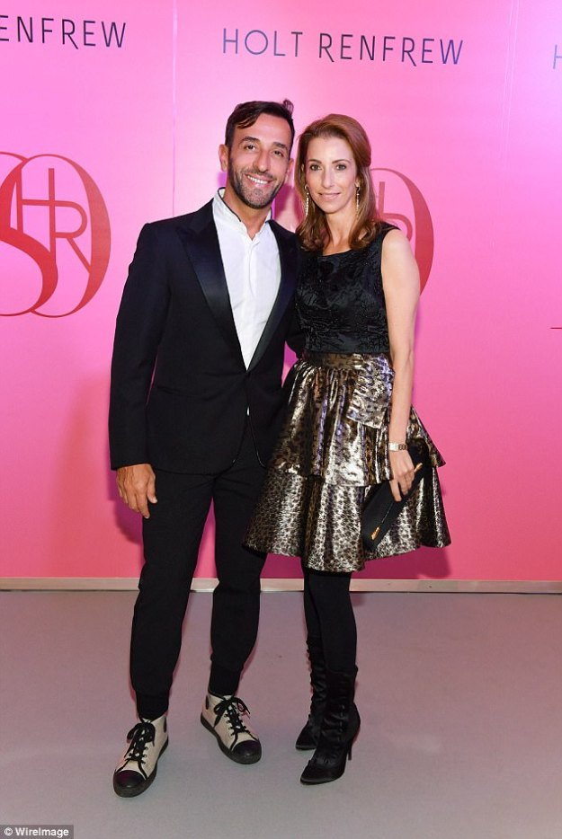 Wild thing!Toufik Sarwa joined Amoryn Engel as she turned heads in a satin leopard print skirt