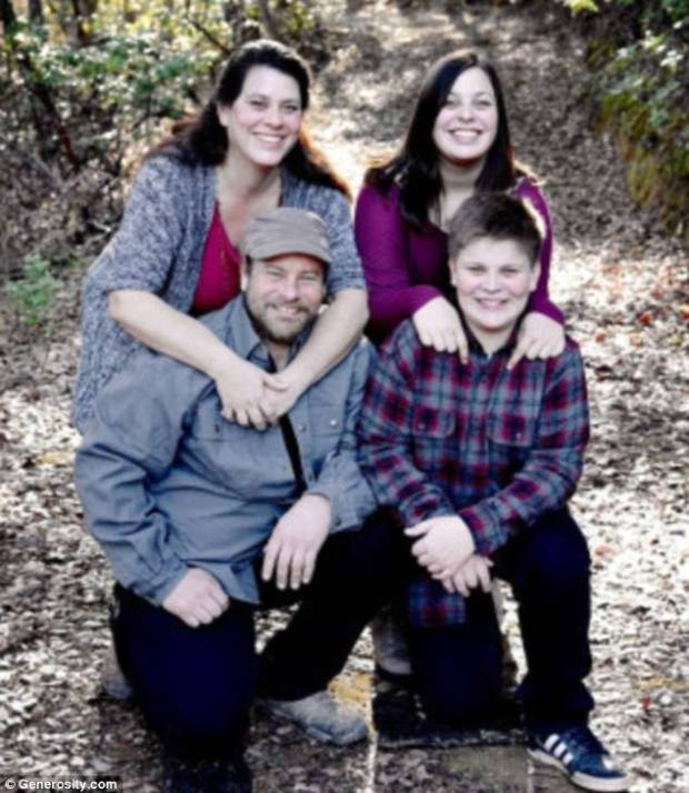 Kai Shepherd, 14 (bottom right), died on Monday trying to escape the Redwood Valley Fire with his family - father Jon, 45 (bottom left); mother Sara, 40 (top left); and sister Kressa, 17 (top right)