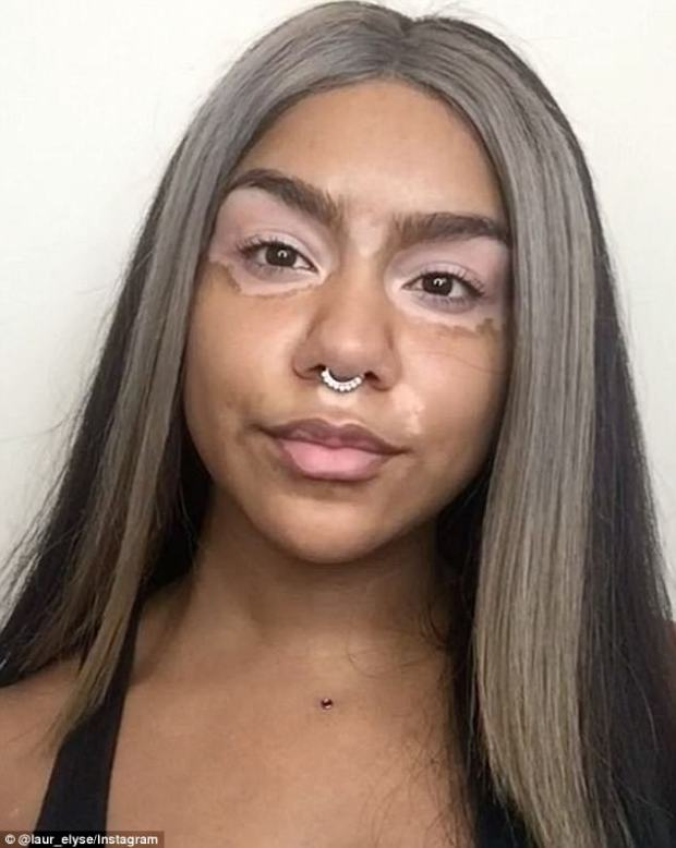 Social media star: Lauren now has more than 300,000 Instagram followers and has received a lot of positive feedback since she debuted her make-up looks