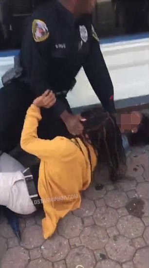 A video has gone viral of a New Jersey police officer forcibly detain two girls before manhandling a teacher who tried to intervene