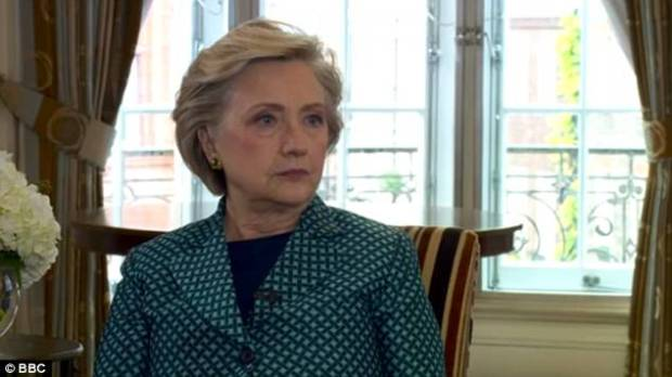Hillary Clinton has drawn comparisons between Harvey Weinstein and Donald Trump, saying: 'we have someone admitting to be a sexual assaulter in the Oval Office'