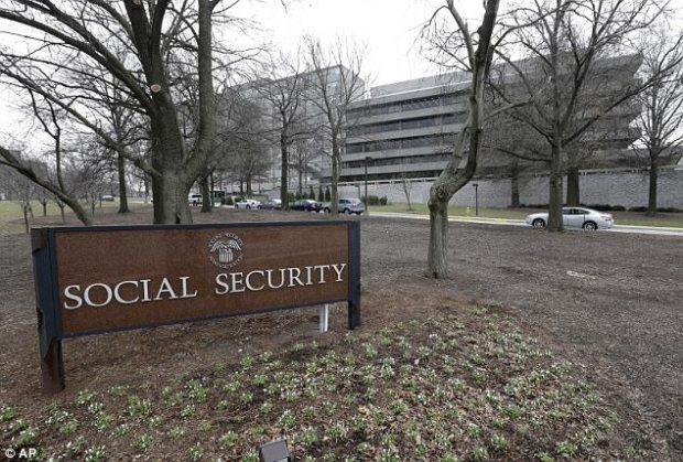 On average, this increase will amount to $25 per month. Pictured is the Social Security Administration's main campus in Woodlawn, Maryland