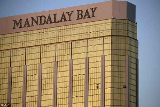 Paddock shot Mandalay Bay security guard Jesus Campos at around 10.05pm on the 32nd floor of the hotel, not 9.59pm, as it had been suggested earlier