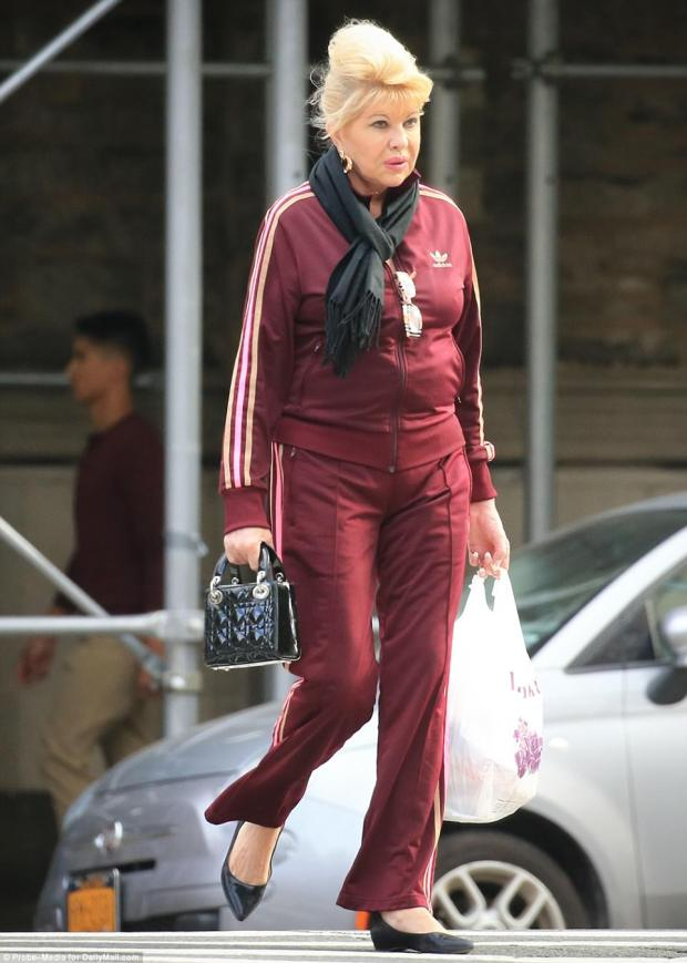 Details: The businesswoman sported a neat French manicure in addition to her athletic Adidas outfit