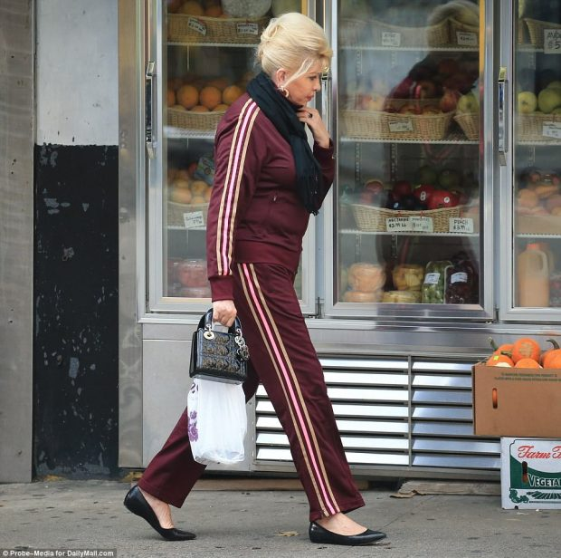 Pensive: The former model appeared lost in thought as she continued making her way around New York City