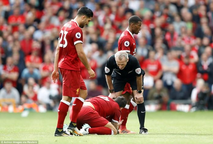 Lovren rolled on the turf in pain following the clash with Lukaku but the Belgian striker did not face any action from the referee