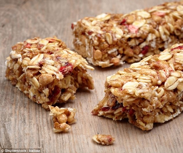 Very few nutritionists said museli bars were a healthy option, with only 18 percent of nutrition experts deeming them so (stock image)