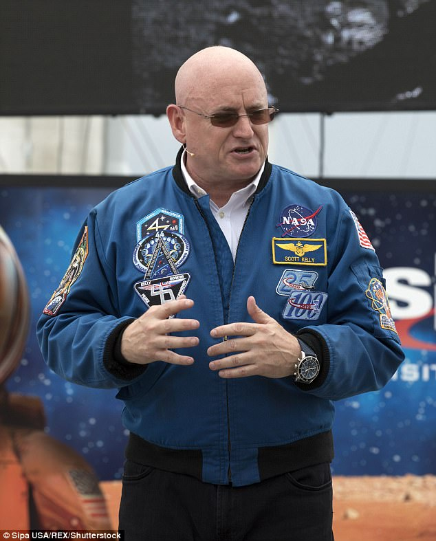 Scott Kelly pictured at The Kennedy Space Center  for the 'Summer in Mars' promotion