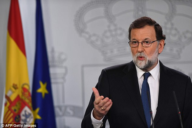 Mariano Rajoy also blamed separatists for pushing government to take unprecedented measures in Catalonia