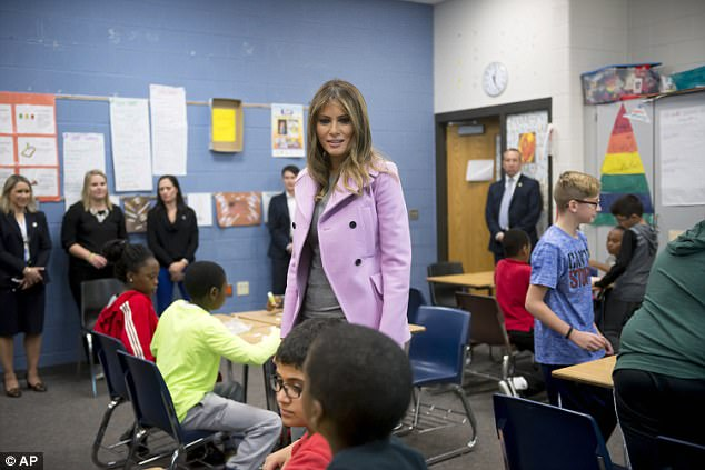Melania Trump took her first solo trip to address one of the issues she pledged to deal with as first lady, that of bullying