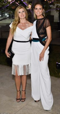 Gal pals: Connie Britton and Heidi vied for most saucy in their dazzling cream ensembles