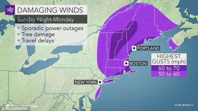 Winds will be so high they'll have the potential of knocking down trees, power lines, and delaying flights