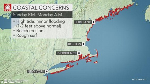 The area from eastern Pennsylvania and New Jersey to central and eastern New York state to New Hampshire has the greatest potential to see flash and urban flooding