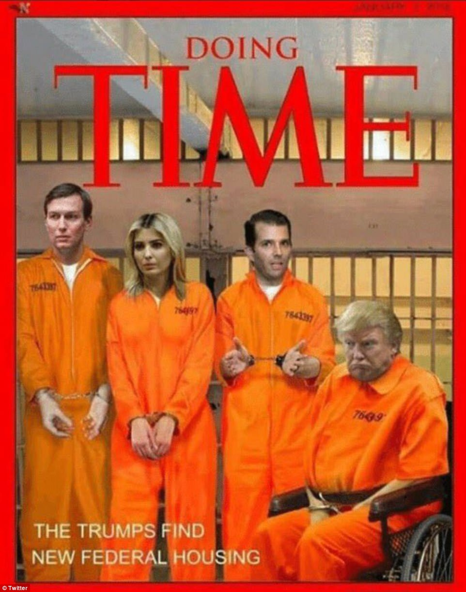Image result for Picture of trump in orange prison suit in prison