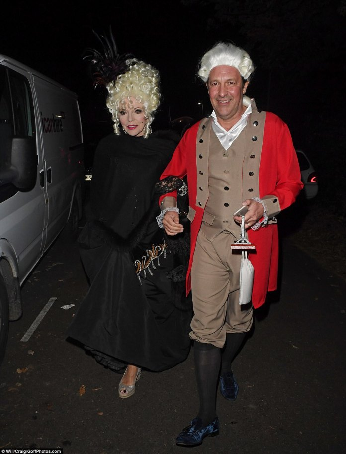 Historical: Joan, 84, rocked up as Madame du Barry - one of the victims of the Reign of Terror during the French Revolution - and the final mistress of Louis XV who met a grisly end as she was executed