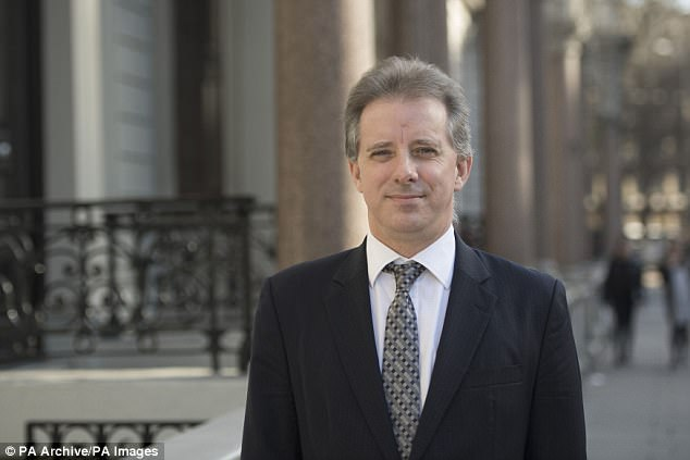 In the money: Ex-MI6 spy Christopher Steele's company got $168,000 for its 35-page work which included the claims about degrading sexual practices by the now president