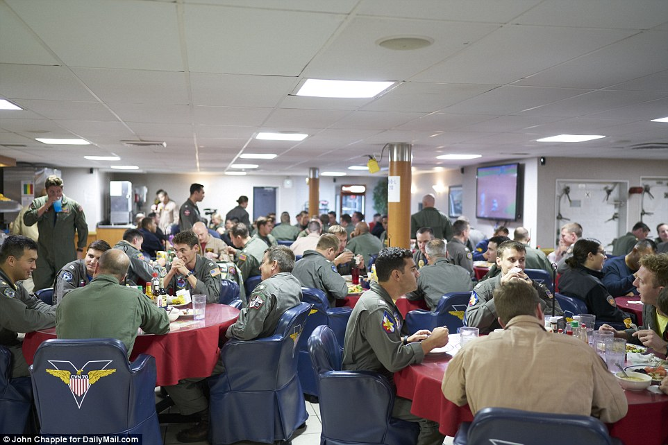 On a daily average, the Navy spends around $60,000 feeding sailors and on Sunday, they serve a special brunch meal which includes Belgian waffles or some shrimp