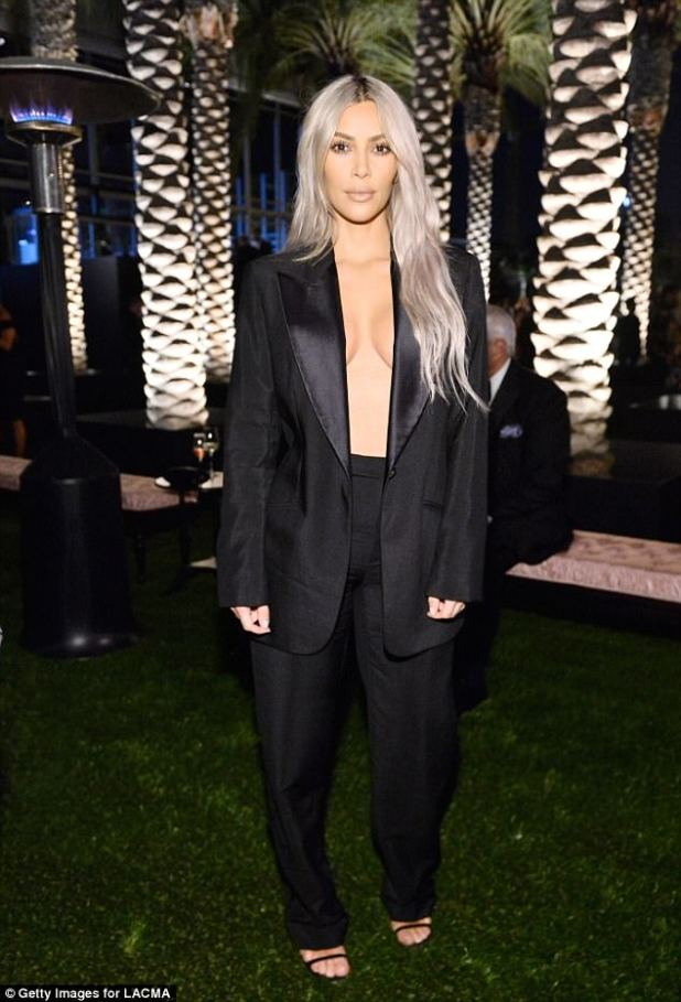 All night long: Once inside the event, Kim continued to show off her incredible outfit