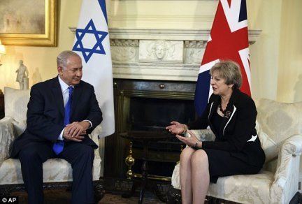 Israeli PM Benjamin Netanyahu was in London for talks with Mrs May and to mark a century a century since the Balfour Declaration. Mrs May did not know of the meeting between Mr Netanyahu and Ms Patel during the talks