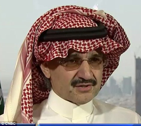Arrested: Prince Al-Waleed bin Talal, one of the world's highest-profile investors is being held