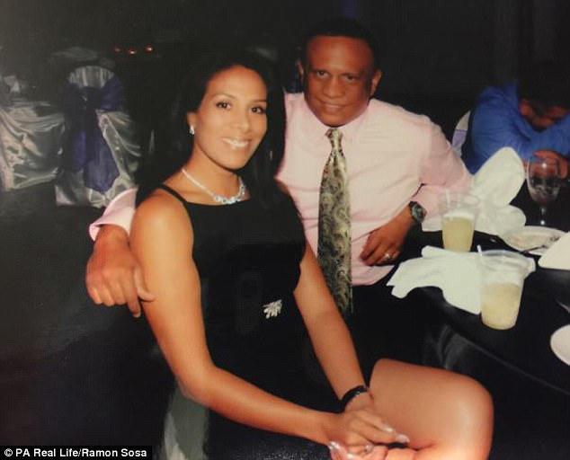 Mr Sosa found out that his wife Maria 'Lulu' Sosa (pictured together) wanted to have him killed