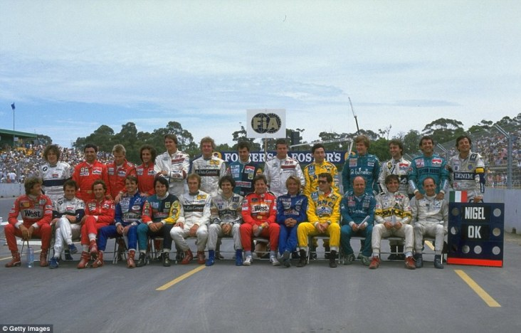 As well as the opening race of the season, there is also a drivers line-up at the end of the campaign. The class of 1987 has one notable absentee in the shape of Nigel Mansell, who had been injured following the previous race in Japan. Can you name the 26-strong field ahead of the 1987 Australian Grand Prix? Answers are at the bottom of the page